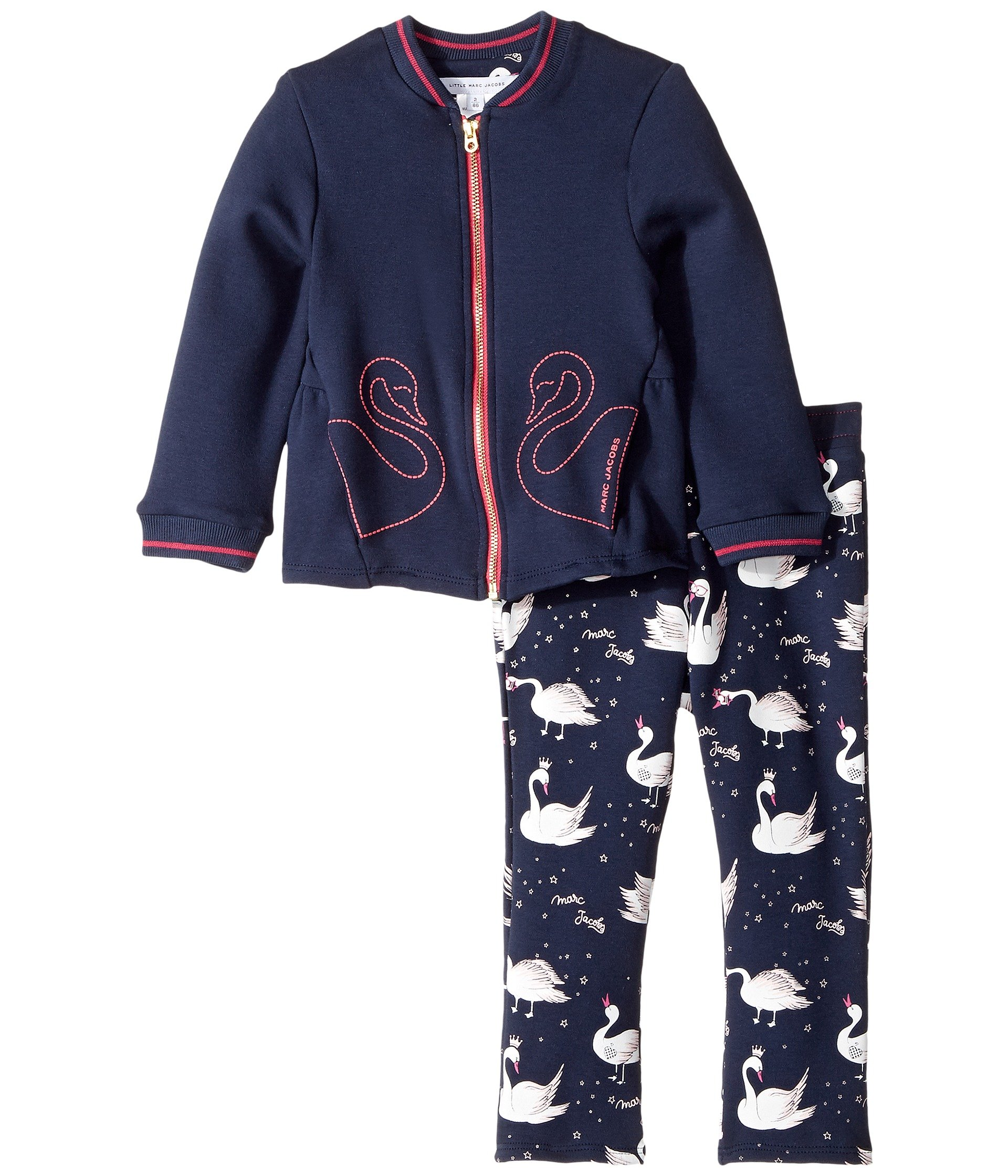 Little Marc Jacobs Baby Girls' 2 Pcs Jacket and Trousers Toddler, Dark Indigo, 2 Year