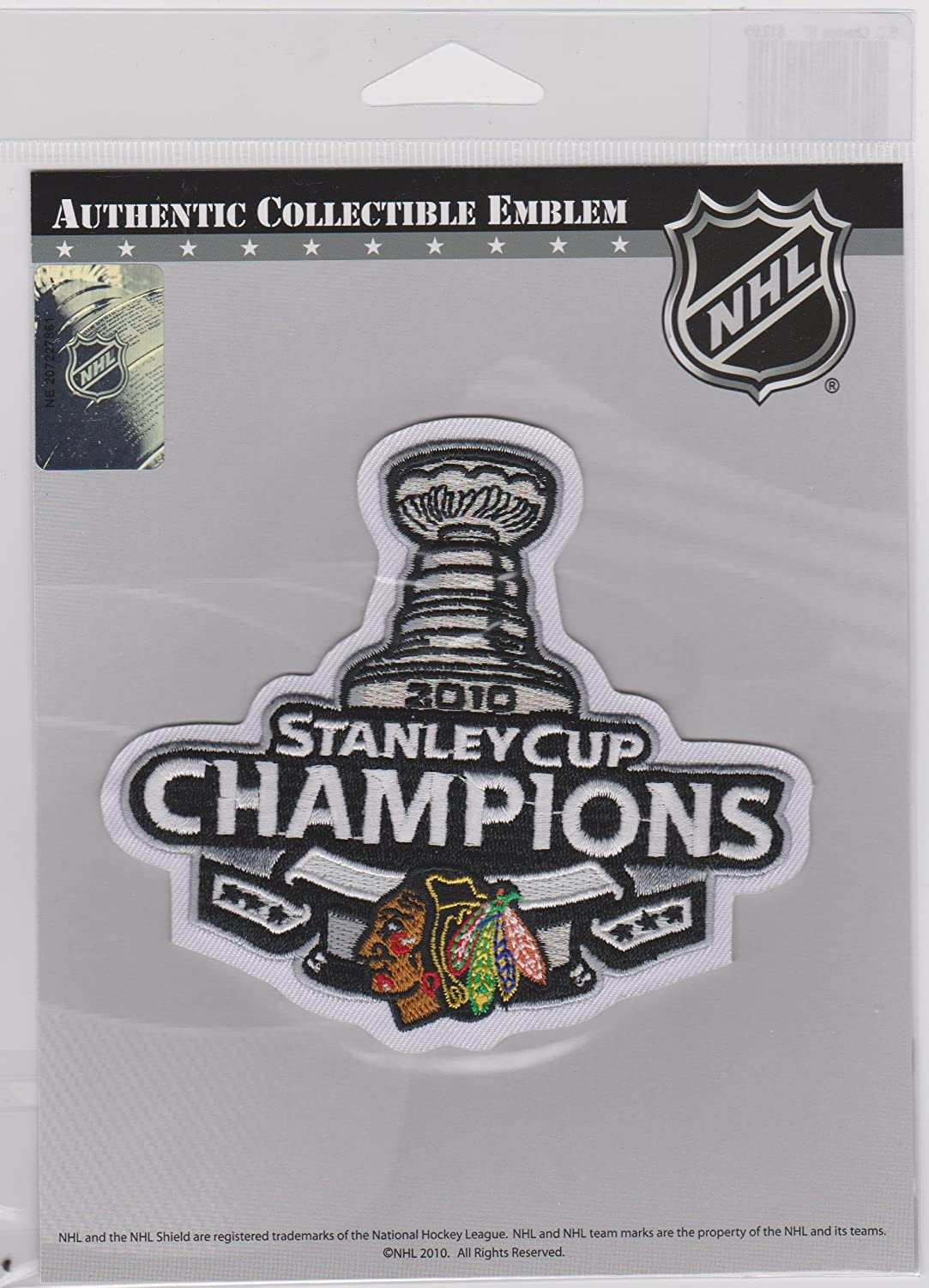 2010 STANLEY CUP CHAMPIONS CHICAGO BLACKHAWKS JERSEY PATCH