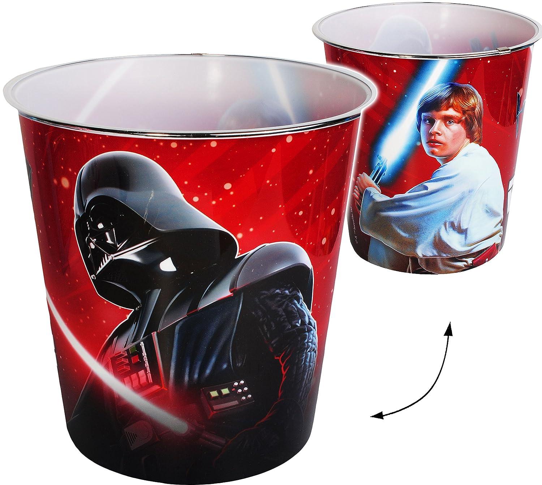 Papierkorb / Behälter - Star Wars - Darth Vader - incl. Name - 8 Liter - aus Kunststoff - Spielzeugkorb / Popcornschüssel / Mülleimer Eimer - auch als Blu.. alles-meine.de GmbH