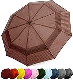 Windproof Travel Umbrella - Compact, Double Vented Folding Umbrella - Automatic Open & Close Button - Portable…