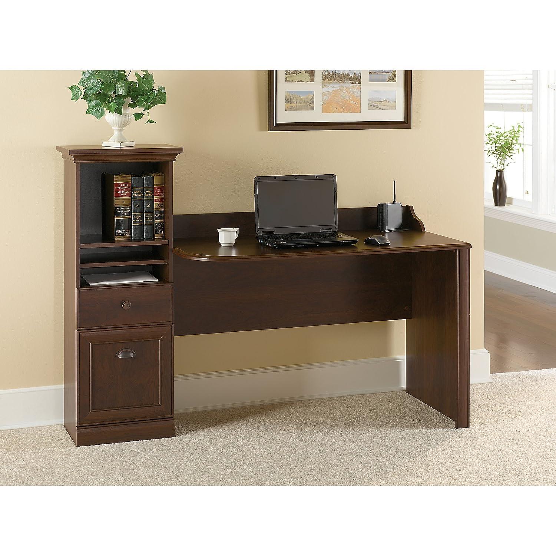 Barton Computer Workstation Desk in Bing Cherry Bush Industries--DROPSHIP HM01618-03