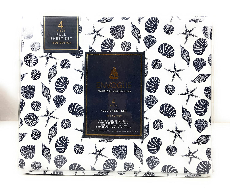 amazon com envogue nautical collection 100 cotton sheet set