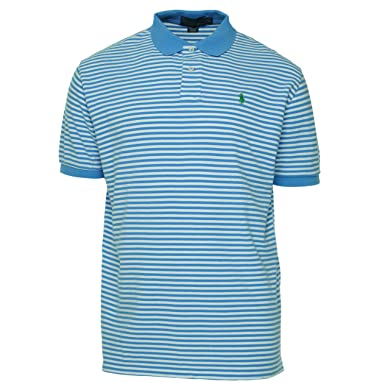 Polo Ralph Lauren Classic-Fit Thin-Striped Polo, Lt. Blue, S