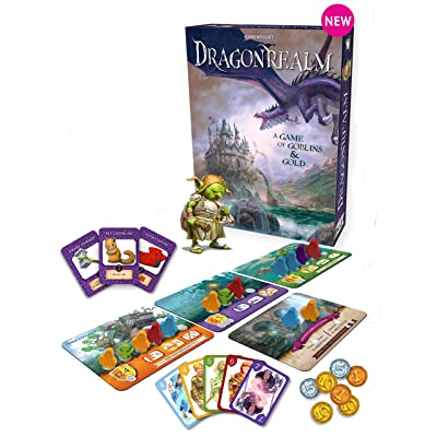 Gamewright Dragonrealm – A Strategy Card and Dice Game of Goblins & Gold: Toys & Games