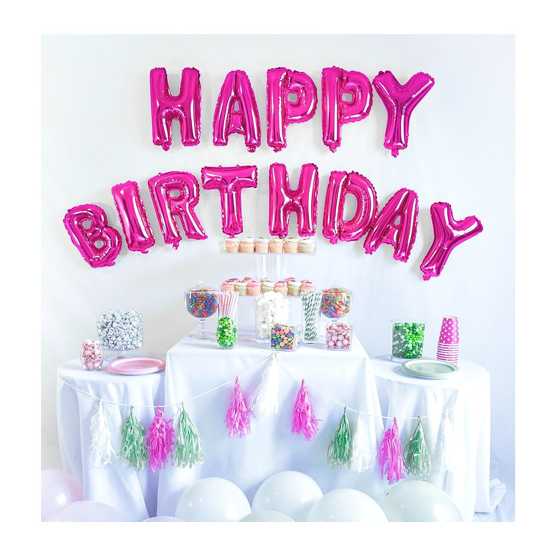 Amazon.com: UP Celebrations-Birthday Banner, Happy Birthday Banner ...