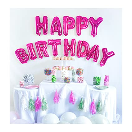 UP Celebrations Birthday Banner Happy Balloons Decorations