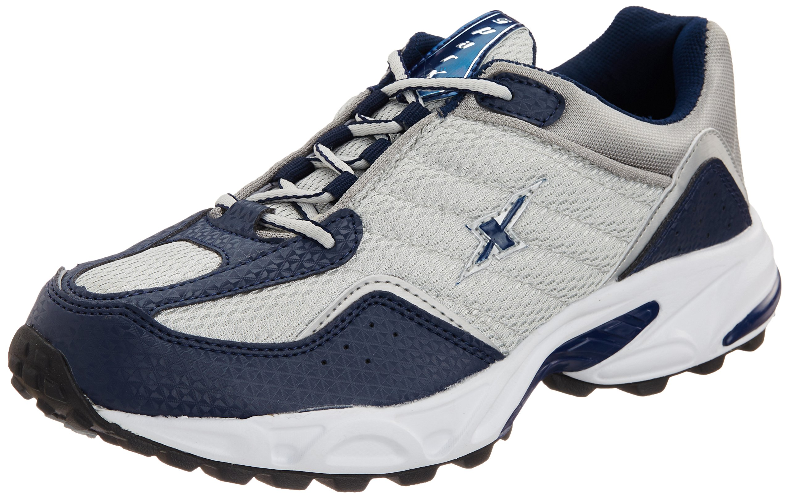 Navy Blue and Silver Running Shoes