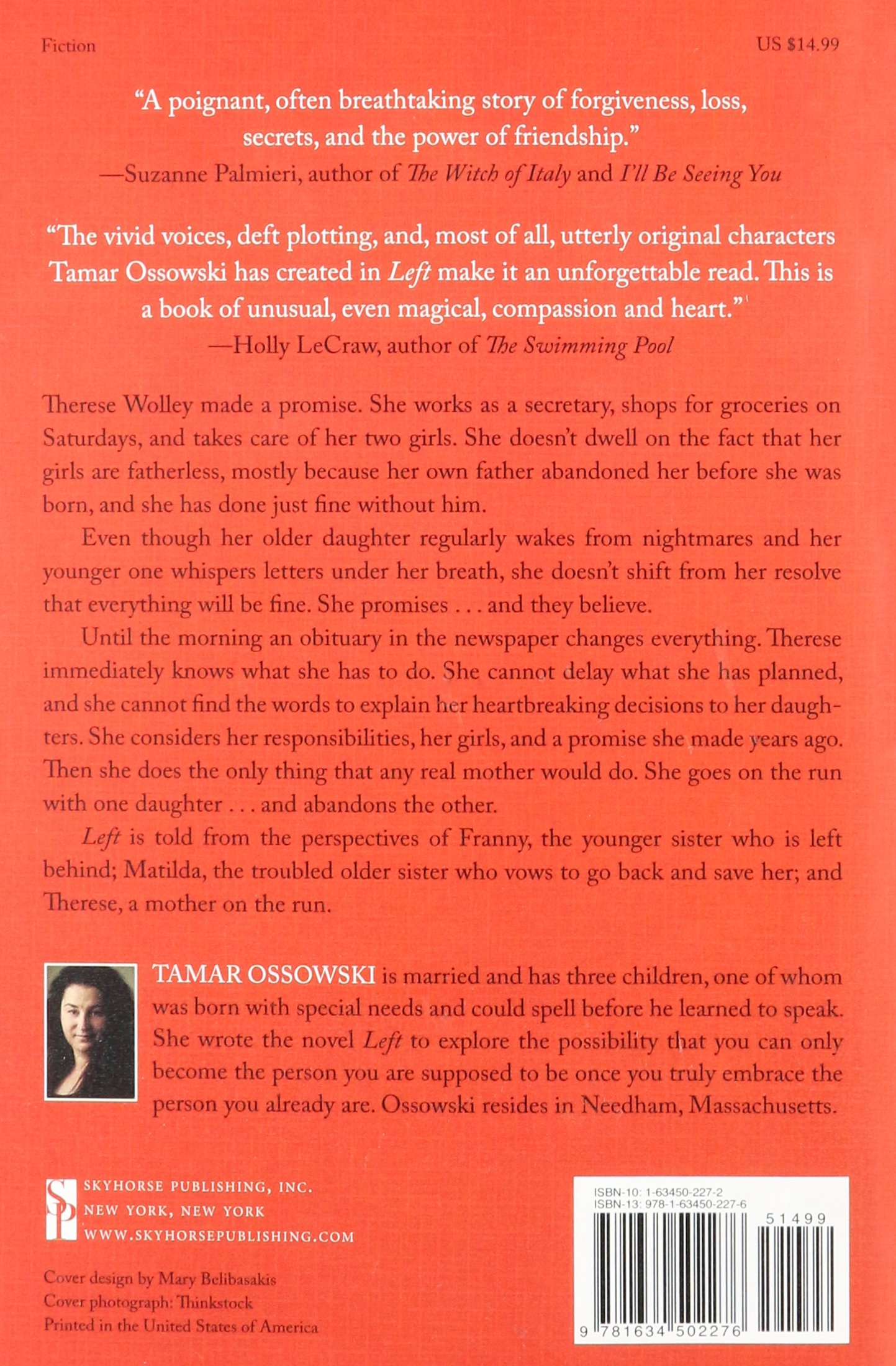 left a novel tamar ossowski 9781634502276 amazoncom books