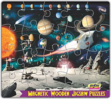 MFM Toys Solar System SpaceAge Magnetic jigsaw Puzzle (20Pcs) - Fridge Edition