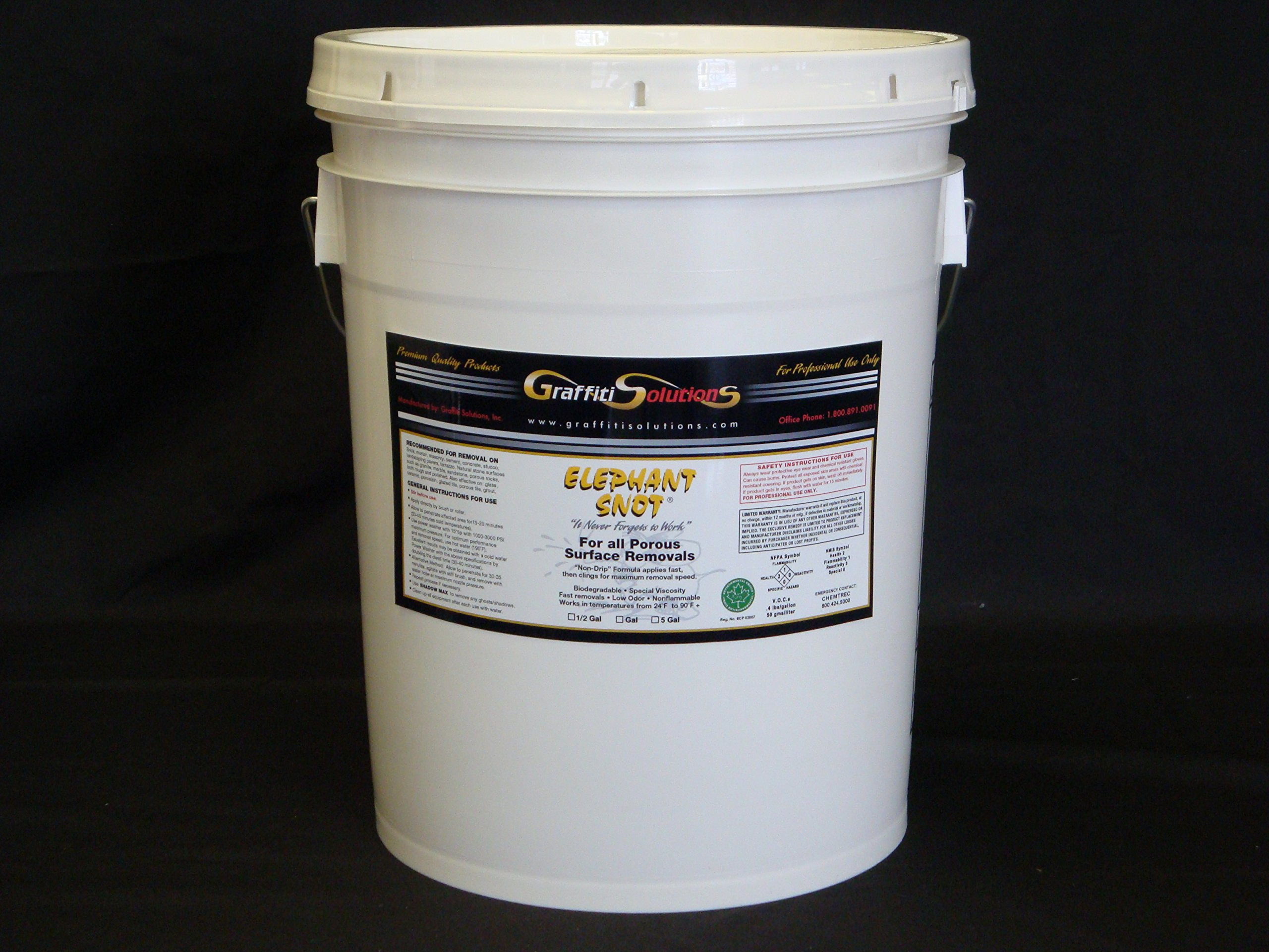 Elephant Snot Graffiti Remover 5 Gal Used By Professionals on Porous Surfaces for Exceptional Graffiti Removal of spray paint, marking pens, difficult to remove 2-part paint, epoxy, urethane and more