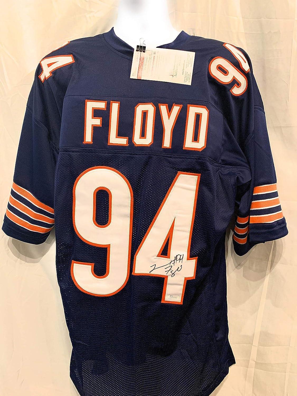 Leonard Floyd Chicago Bears Signed Autograph Blue Custom Jersey ...