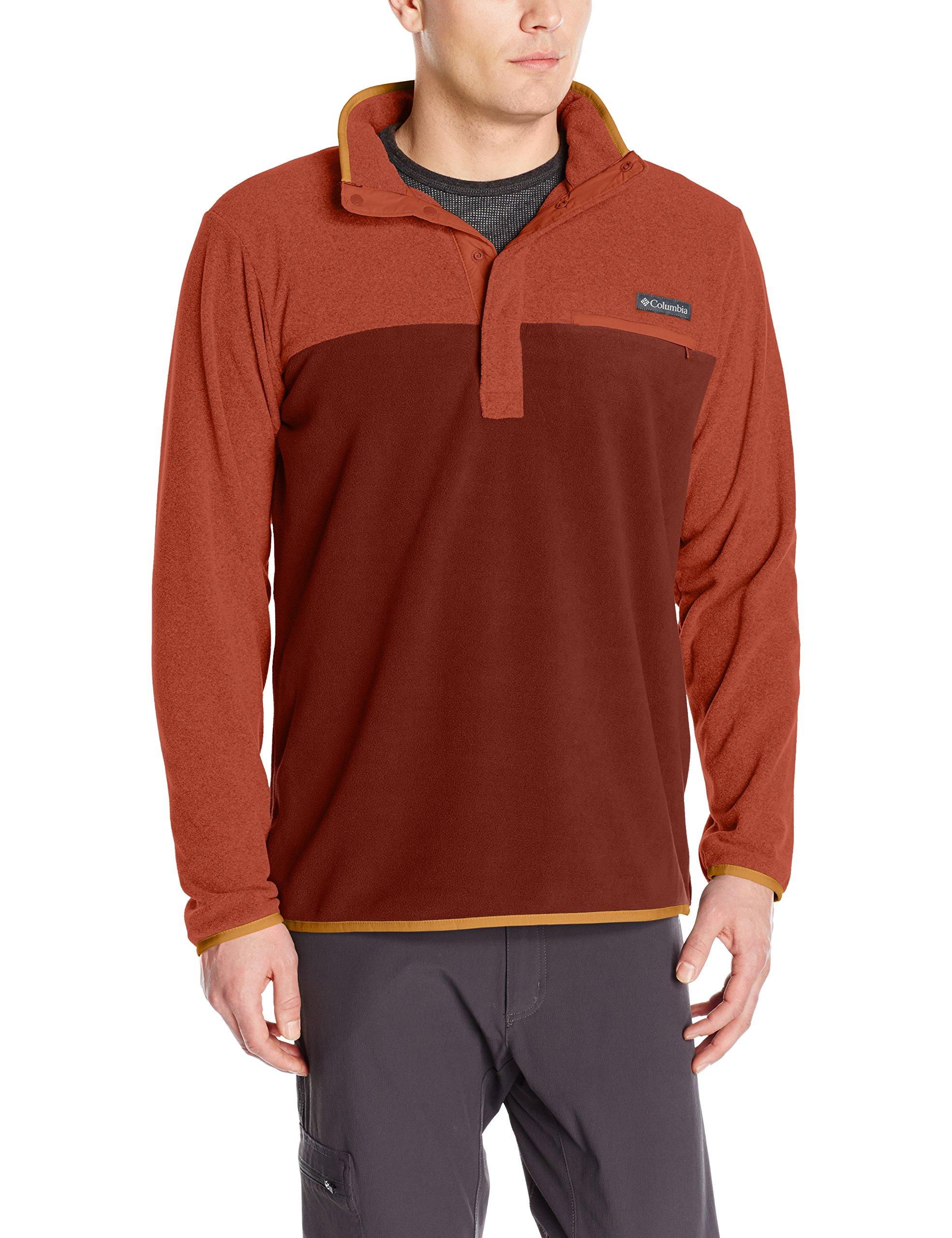 Columbia Men's Mountain Side Fleece Jacket, X-Large, Deep Rust/Rusty
