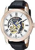 Gevril Men's Vanderbilt Swiss-Automatic Watch with Leather Calfskin Strap, Black, 22 (Model: 2694)