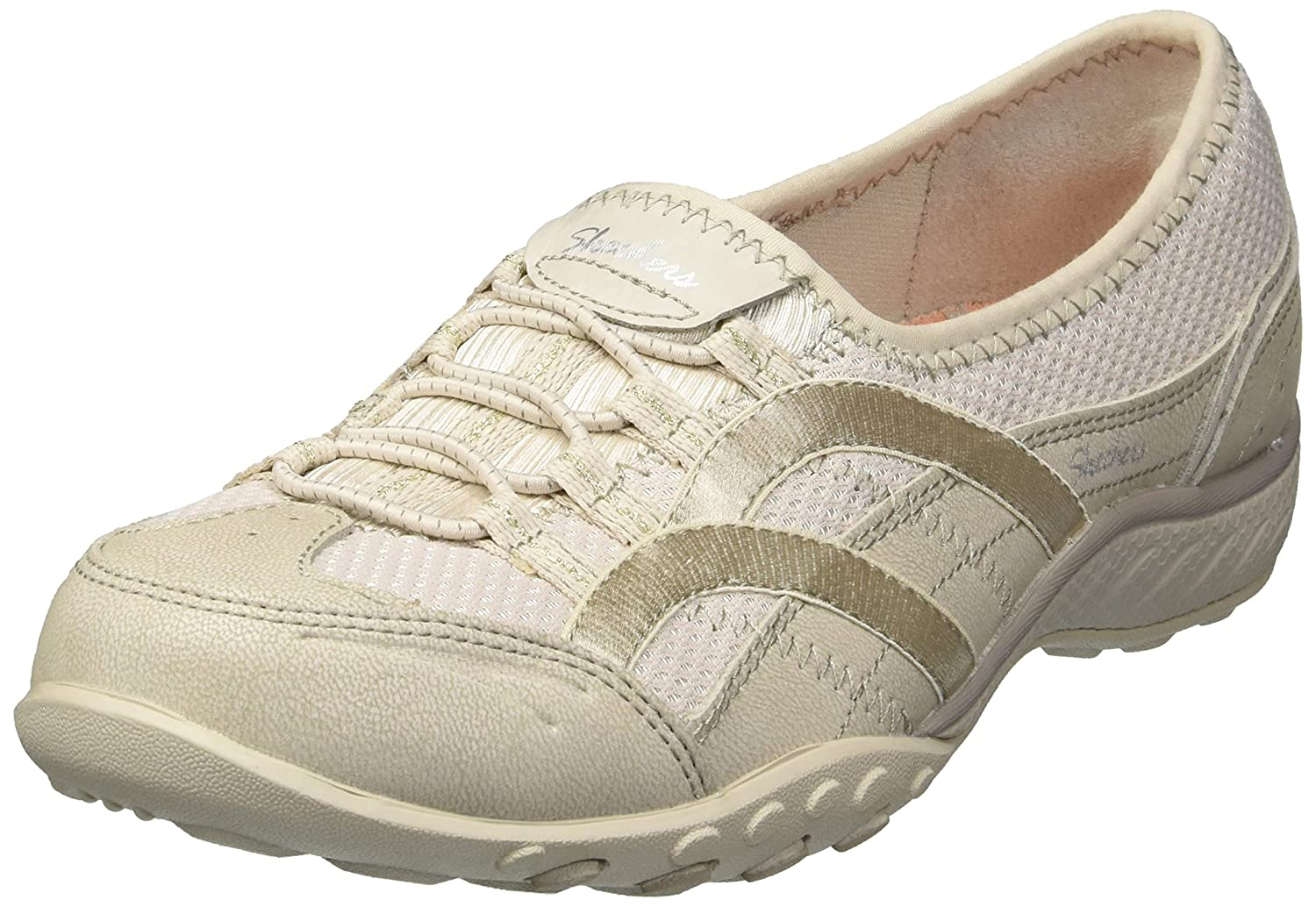 Skechers Women's Breathe Easy Well Versed Sneaker B07486CZST 9.5 B(M) US|Natural