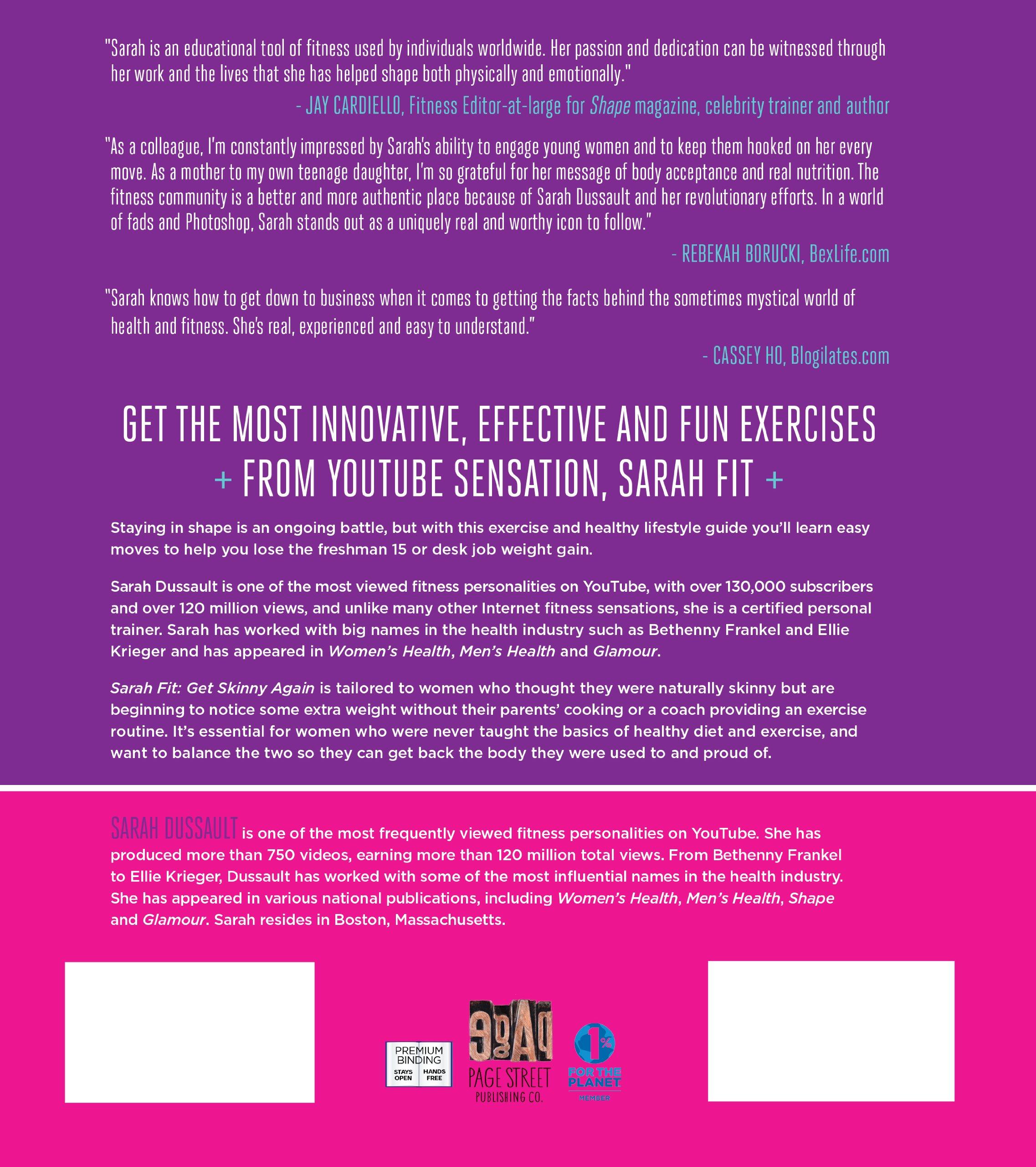 Sarah fit get skinny again the right exercises to get back your sarah fit get skinny again the right exercises to get back your dream body and the secrets to living a fit life sarah dussault 9781624140327 xflitez Images