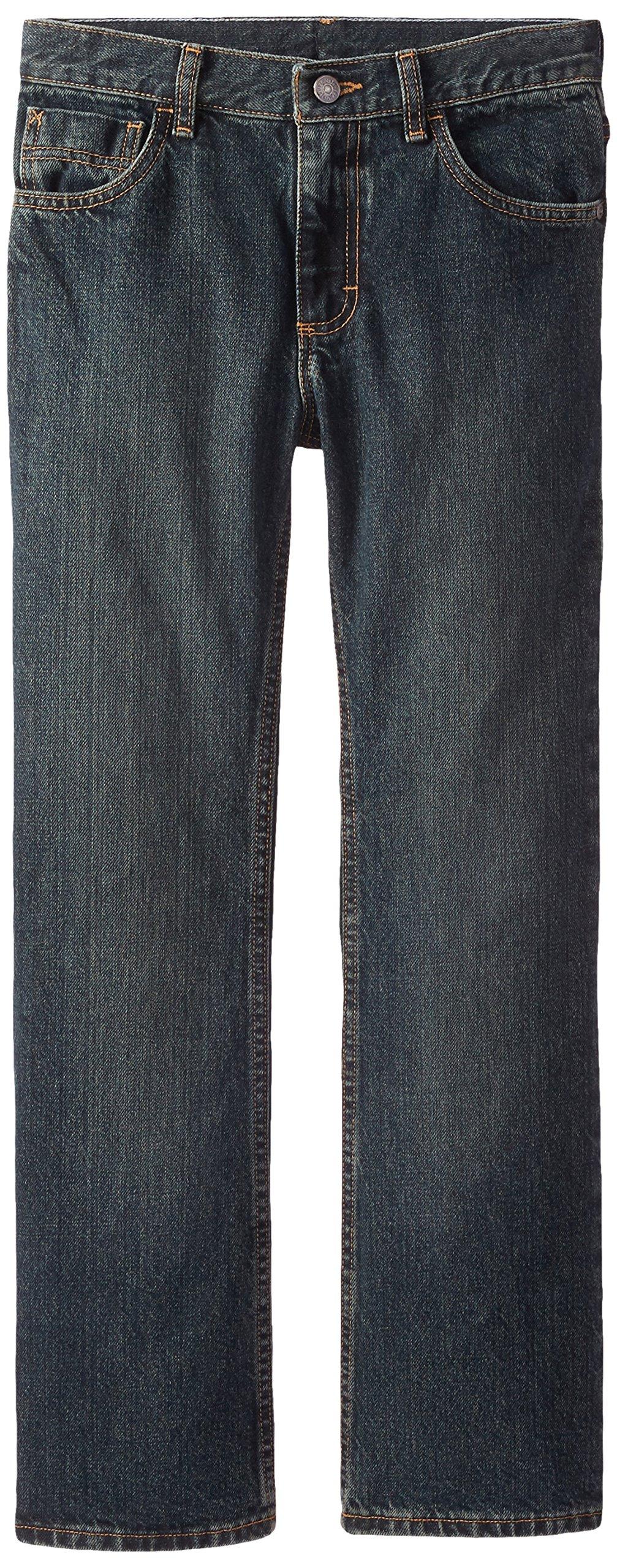 Wrangler Big Boys' Authentics Boot Cut Jeans, Forest Denim, 8 by Wrangler (Image #1)