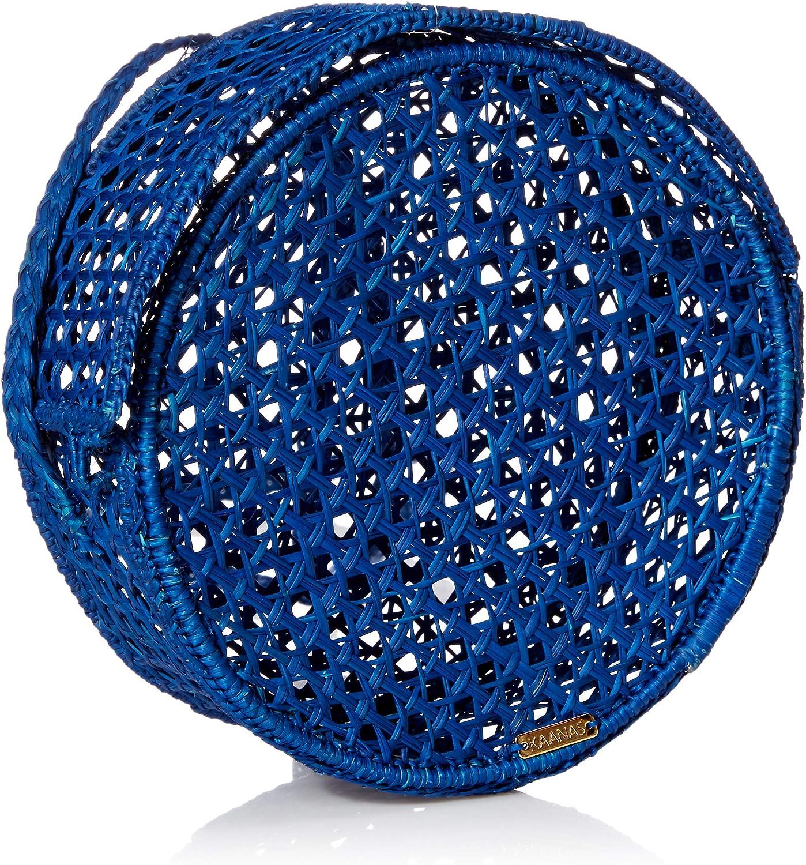 KAANAS BARICHARA Straw Crossbody Circle Bag