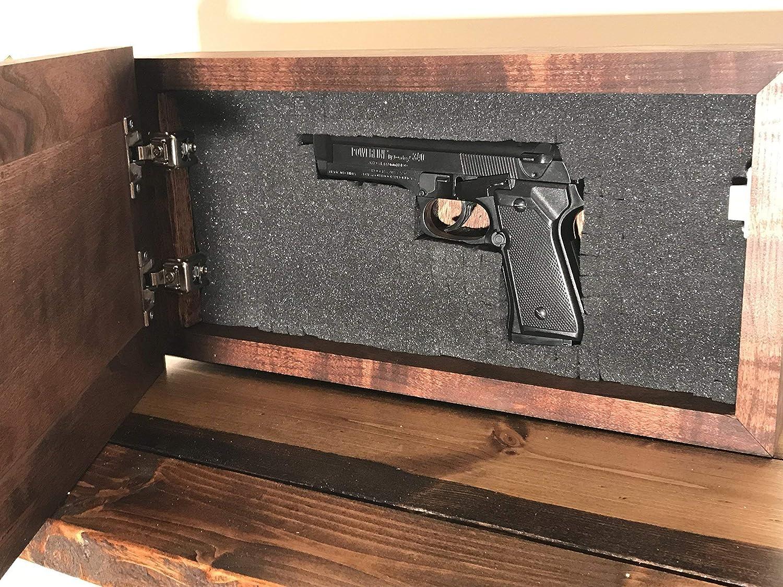 Amazon Com Hidden Gun Storage Concealed Gun Safe Secret Compartment Cabinet Customizable Handmade
