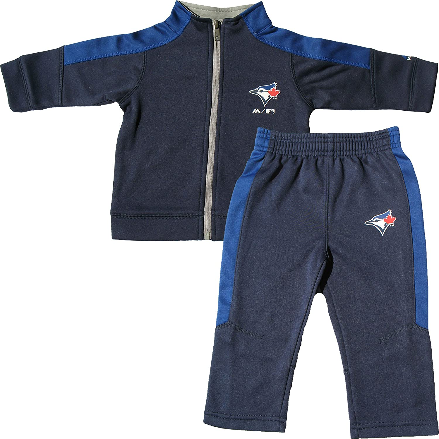 Toronto Blue Jays Toddler Ball Boy Zip-Up Jacket & Pant Set Majestic