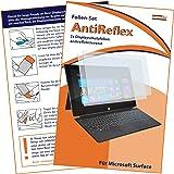 2x mumbi Displayschutzfolie Microsoft Surface Schutzfolie AntiReflex antireflektierend