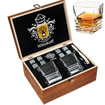 Whiskoff Wooden Classic Box Whiskey Stones