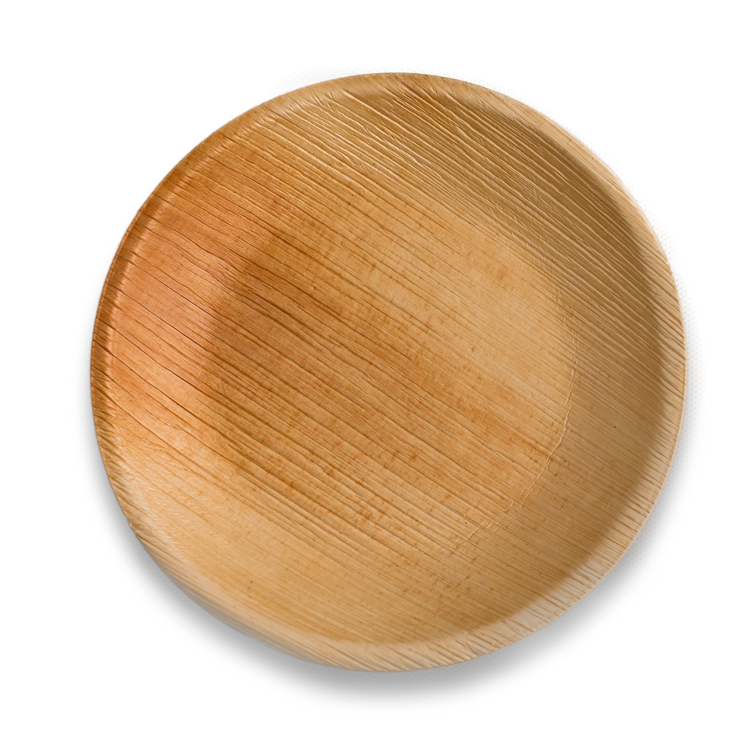 Disposable Plates - Heavy Duty & Eco Friendly – Better than Wood & Bamboo- Round Shape Size 9''-Made of Palm Leaf by Adaaya (Image #2)