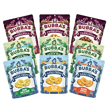 Bubba's Fine Foods Paleo and Grain-Free Full Family Variety Pack (Pack of  9) |