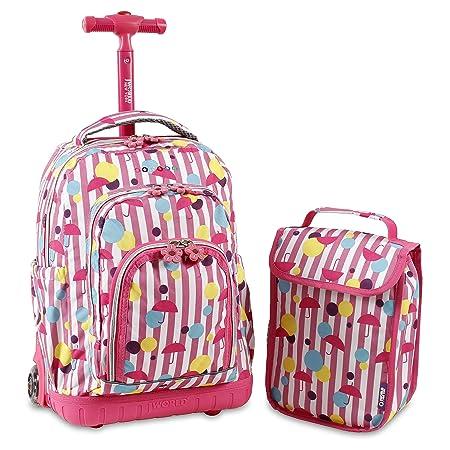 Amazon.com   J World New York Lollipop Kids Rolling Backpack with Lunch Bag, Rain, One Size   Kids Backpacks
