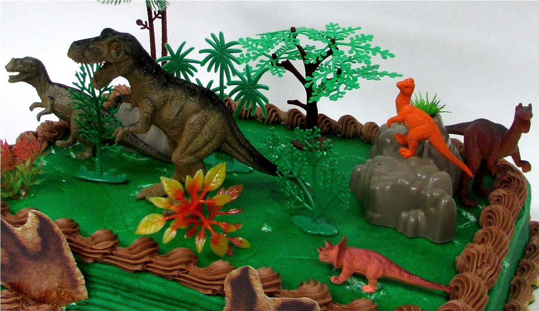 Prehistoric T Rex Dinosaur 12 Piece Birthday Cake Topper Set
