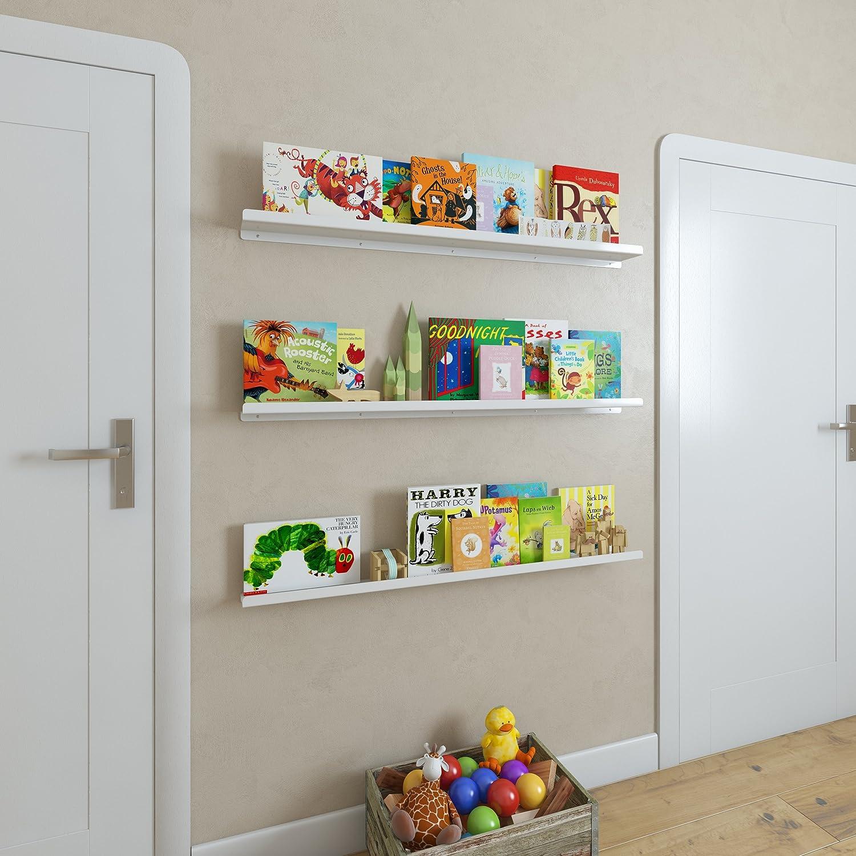 wallniture metal wall mount floating nursery shelf