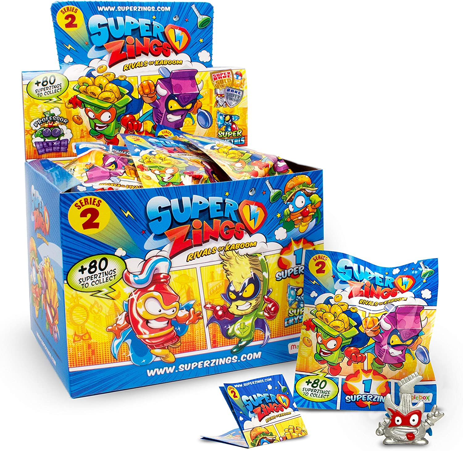 Súperzings- Onepack Serie 2 Caja con 50 Figuras, Multicolor (Magic Box INT. Toys MBXPSZ2D850IN00): Amazon.es: Juguetes y juegos