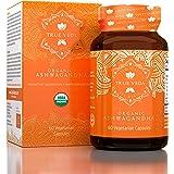 Organic Ashwagandha Vegetarian Capsules | Certified USDA Organic | 100% Natural Herbal Supplement | Ayurveda Formula Known as
