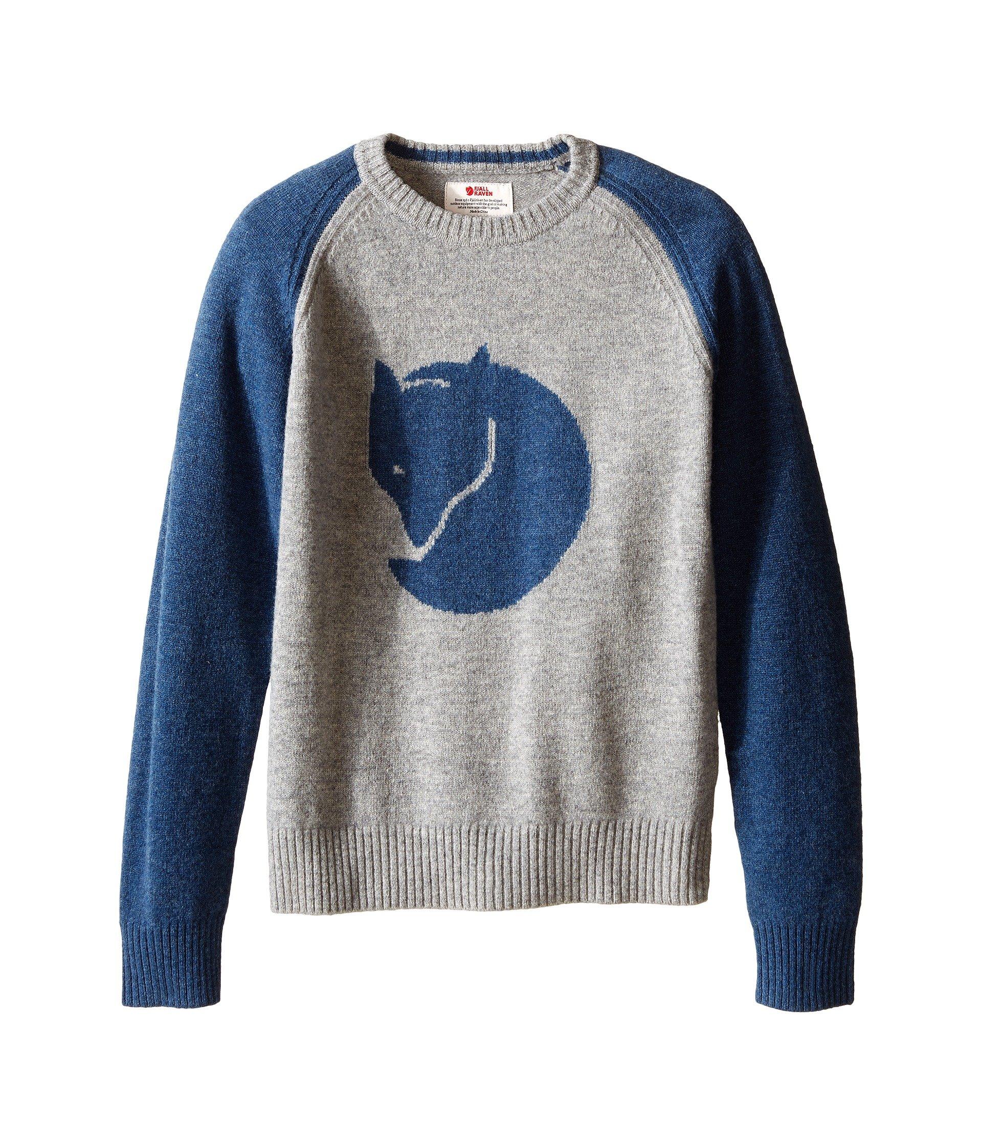 Fjallraven Kids Unisex Kids Fox Sweater Uncle Blue Sweater 116 (5-6 Years Old)