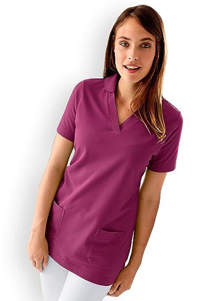 Longshirt Damen Zwei Taschen Berry Clinic Dress Mit OkTwPZXiul
