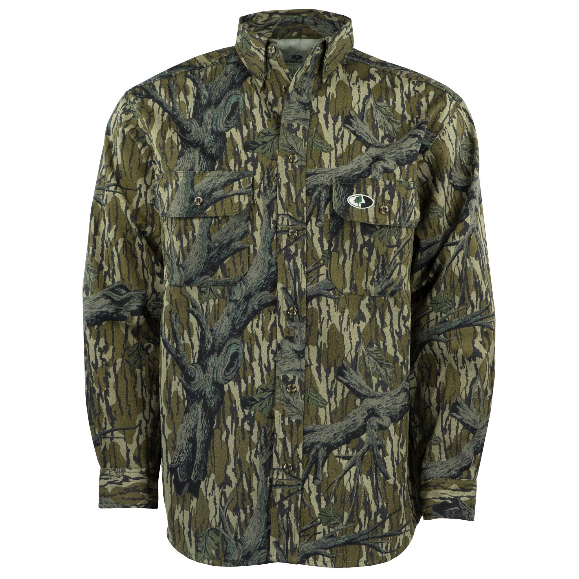 Mossy Oak Camouflage Cotton Mill Hunt Shirt, Original Treestand, 3X by Mossy Oak
