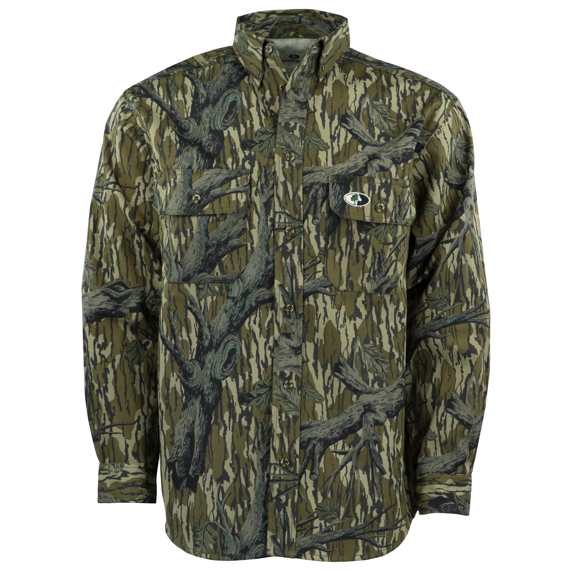 Mossy Oak Camouflage Cotton Mill Hunt Shirt, Original Treestand, 2X