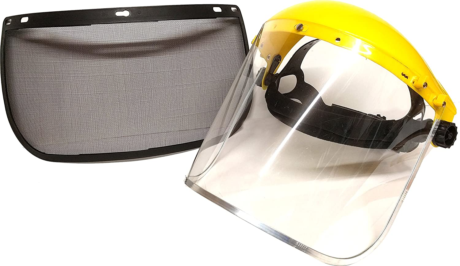 ESENO Industrial Safety Face Shield and Wide Visor /… Replacement Clear Visor x 2