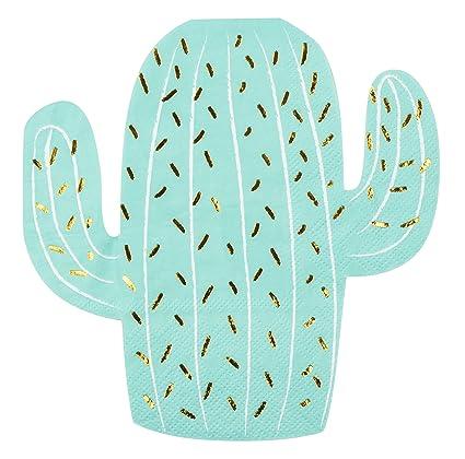 Amazon.com: 50 unidades Cactus Die Cut servilletas con ...