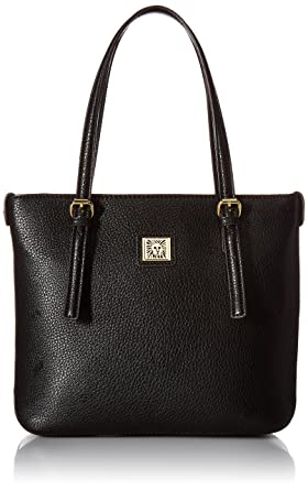 Amazon.com: Anne Klein Perfect Tote Small Shopper, Black, One Size ...