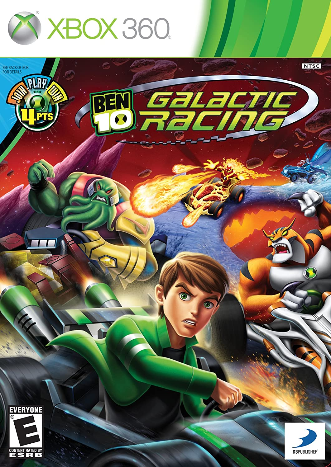 Amazon Com Ben 10 Galactic Racing Xbox 360 Video Games