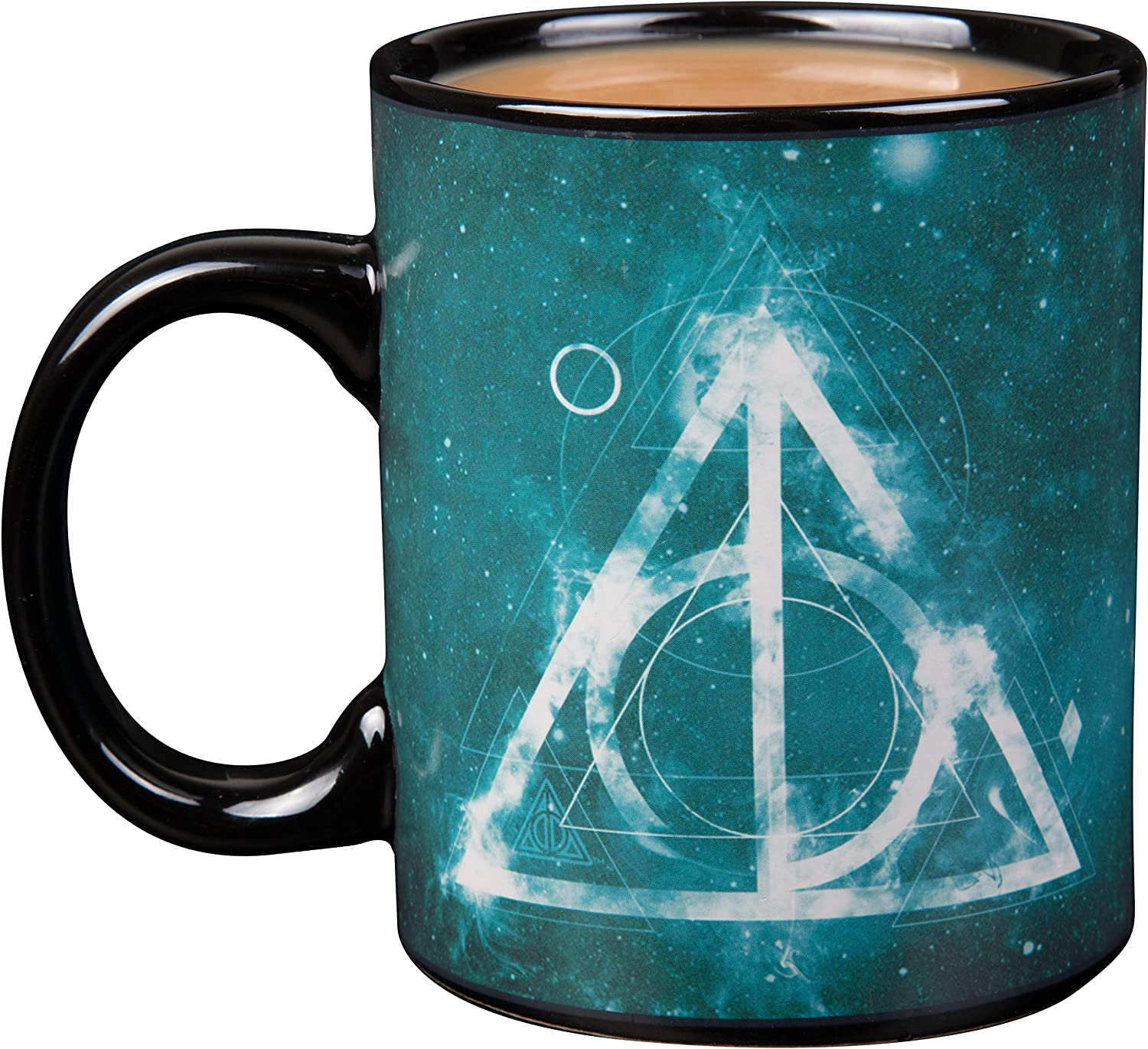 Harry Potter Heat Reveal Ceramic Coffee Mug - Activates with Heat (Deathly Hallows)