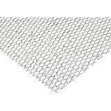"Steel Flat Expanded Sheet, Zinc Galvanized Finish, 48"" Width, 48"" Length, 0.50"" SWD x 1.25"" LWD Opening, 16 Gauge"