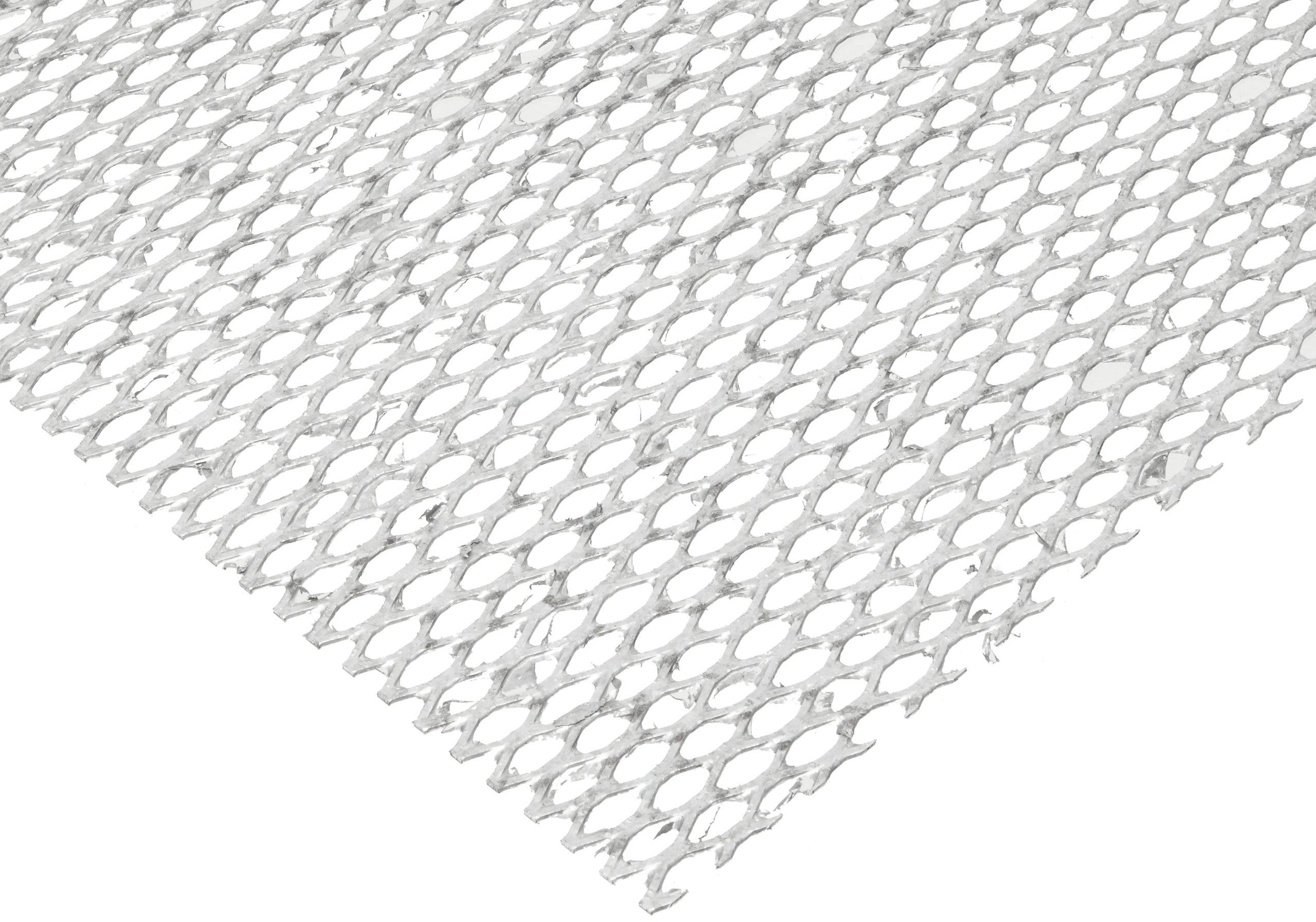 Steel Flat Expanded Sheet, Zinc Galvanized Finish, 48'' Width, 48'' Length, 0.50'' SWD x 1.25'' LWD Opening, 16 Gauge