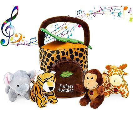 Amazon.com: Juguete de peluche con diseño de animales de la ...