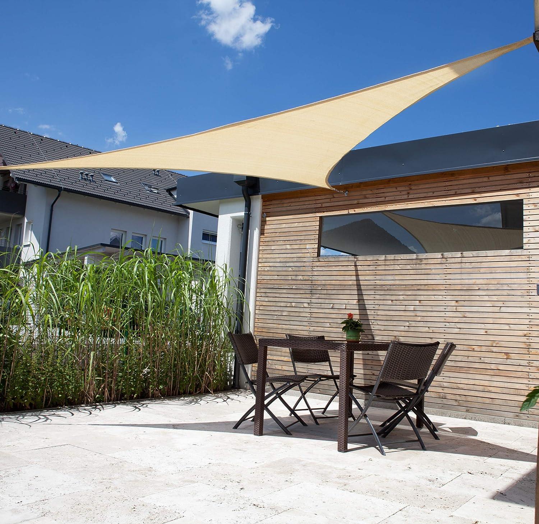Windhager 10963 - Vela de sombra para patio, triangular 3.6 m ...