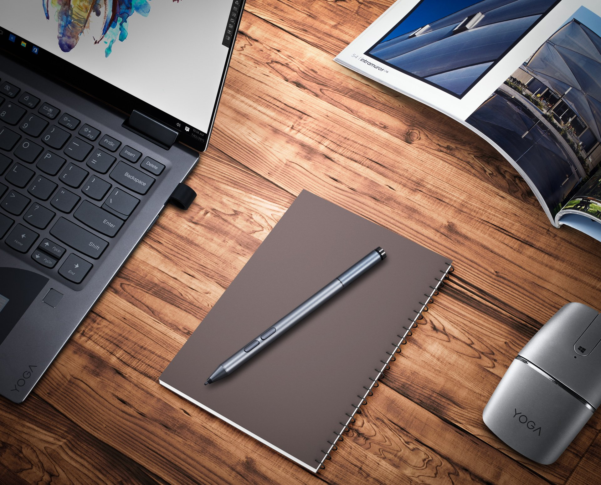 Lenovo Active Pen 2,up to 4096 Levels Pressure Sensitivity,BT connectivity,Paper Like Writing,Configurable buttons100% Tested Compatibility Yoga 920/730/720 Mix 720/510,GX80N07825 by Lenovo (Image #4)