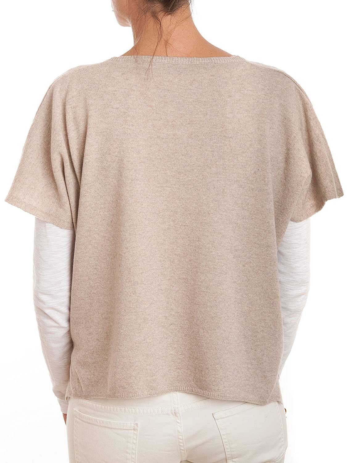 Dalle Piane Cashmere Poncho with buttons cashmere blended yarns Women