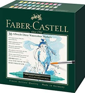 Faber-Castell Albrecht Durer Artists' Watercolor Markers – 30 Assorted Colors – Multipurpose Art Markers