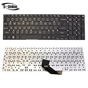 S-Union New Black US Layout Laptop Replacement Keyboard for Acer Aspire VA70 V3-731G V3-7710 V3-7710G V3-772G V3-731 V3-771 V3-771G V3-571 V3-571G V3-551 V3-551G E1-532P E1-570 E1-570G E1-572 E1-572G