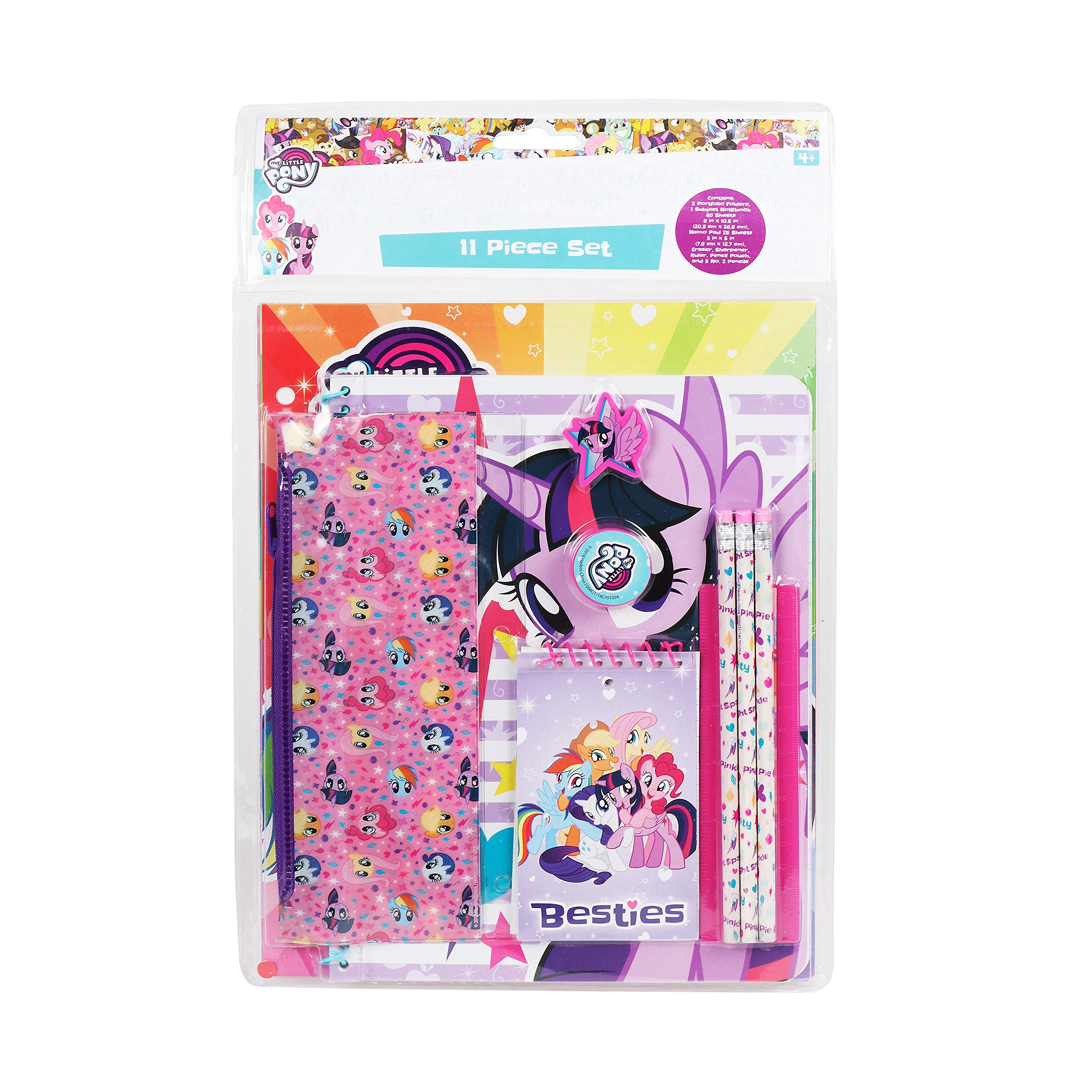 Fun89 My Little Pony 11 Piece Set Back to School for Girls